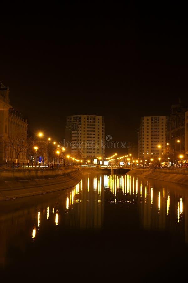 Luces del río foto de archivo