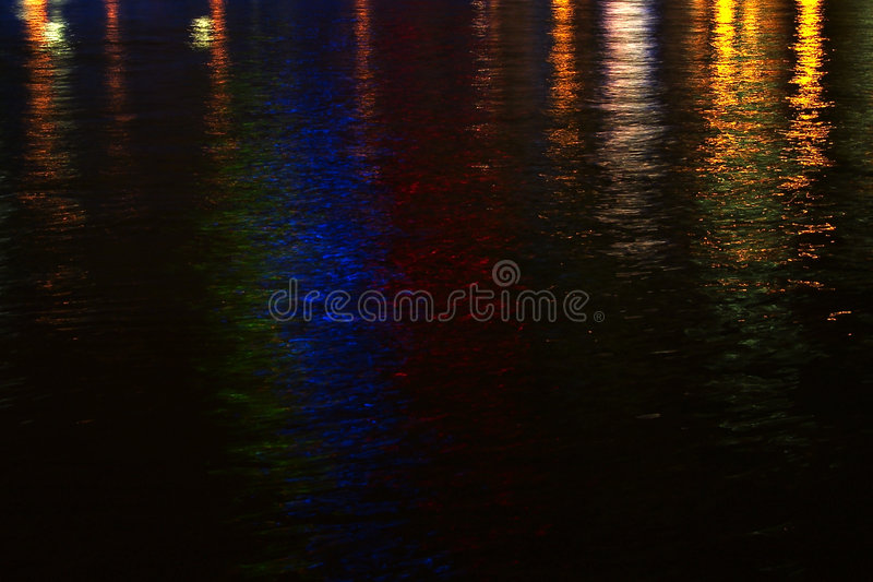 Luces del río imagen de archivo