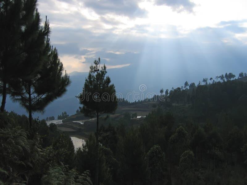 Luces del sol foto de archivo