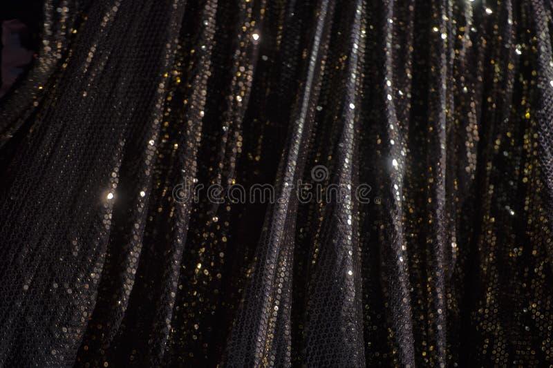 Luces en bokeh negro fotografía de archivo libre de regalías