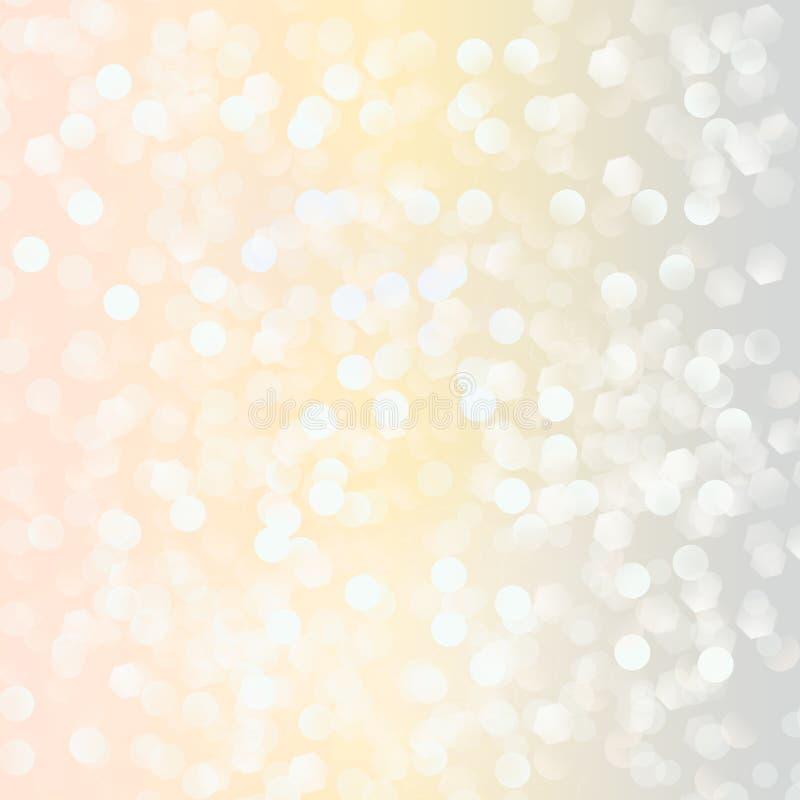 Luces en fondo en colores pastel. stock de ilustración