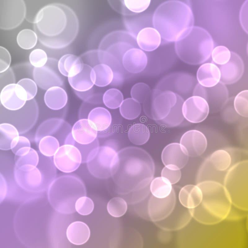 Luces en fondo multicolor. ilustración del vector