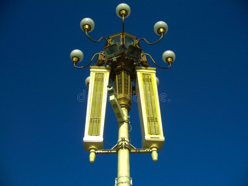 Luces en la Plaza de Tiananmen, Pekín, China foto de archivo