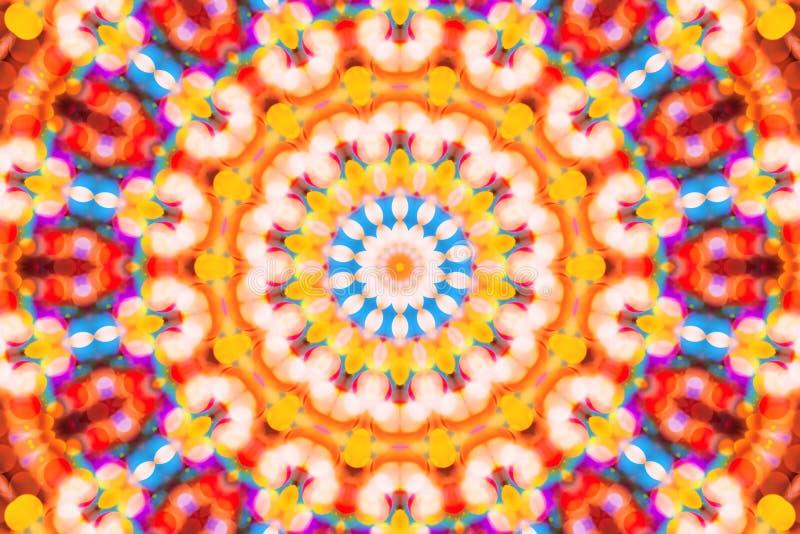 Luces festivas del bokeh colorido hermoso en caleidoscopio ilustración del vector