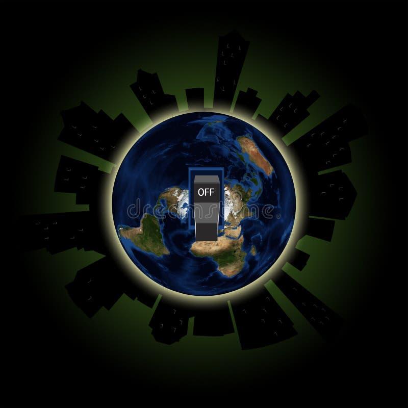 Luces globales de la hora anual de la tierra fuera del acontecimiento en Major Cities libre illustration