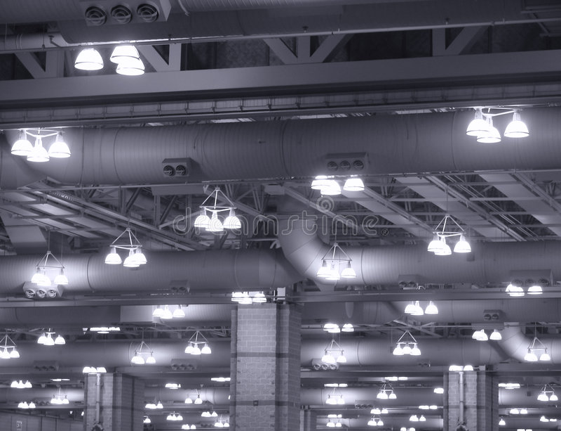 Luces industriales imagenes de archivo
