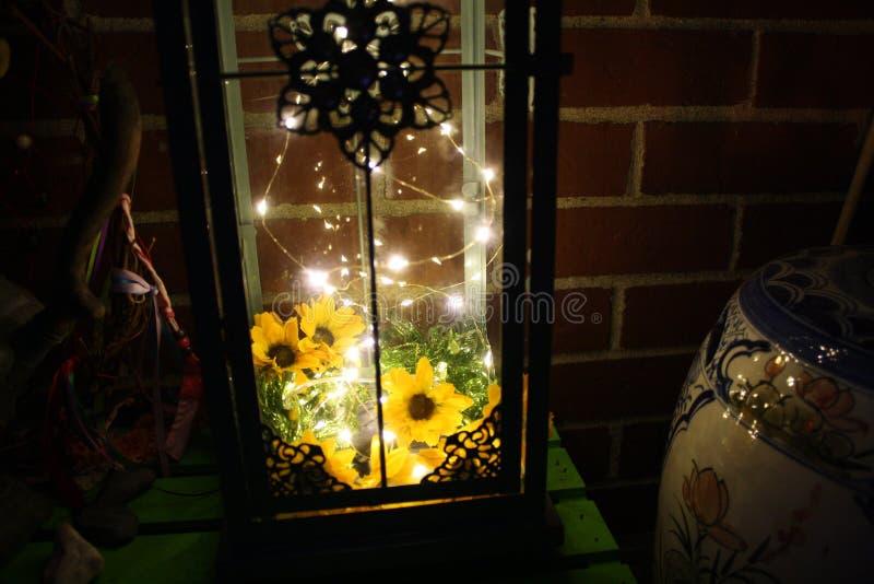 Luces LED de la linterna n de la decoración de Boho imagen de archivo libre de regalías