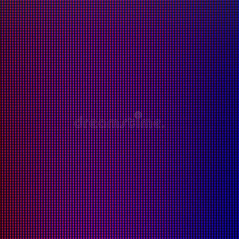 Luces LED del panel de pantalla de visualización del monitor de computadora del LED para la plantilla gráfica de la página web di ilustración del vector