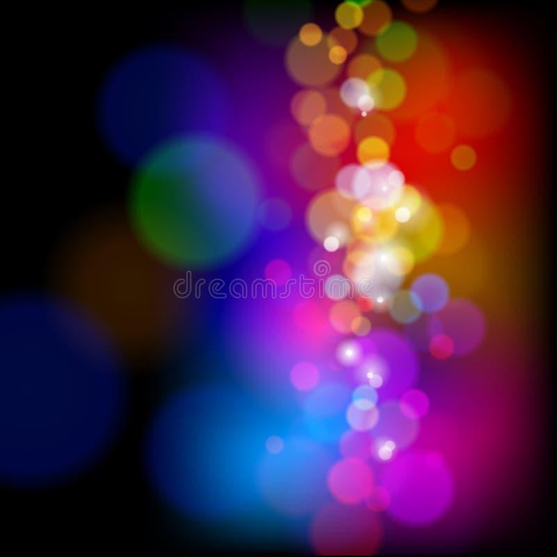 Luces mágicas del color ilustración del vector