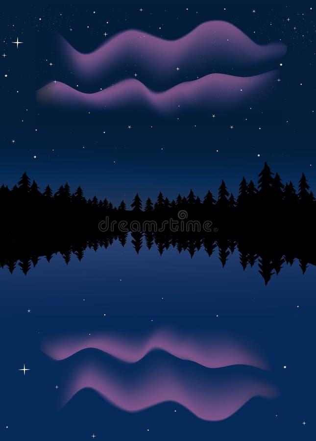 Luces norteñas ilustración del vector