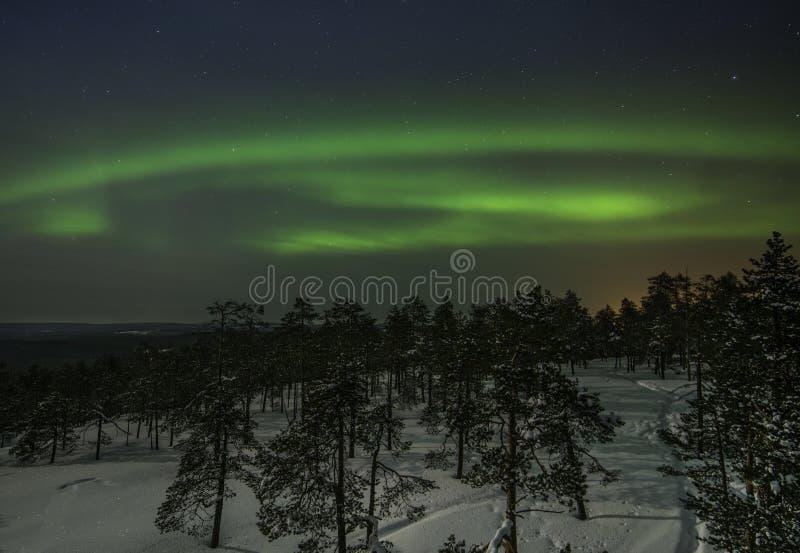 Luces norteñas foto de archivo