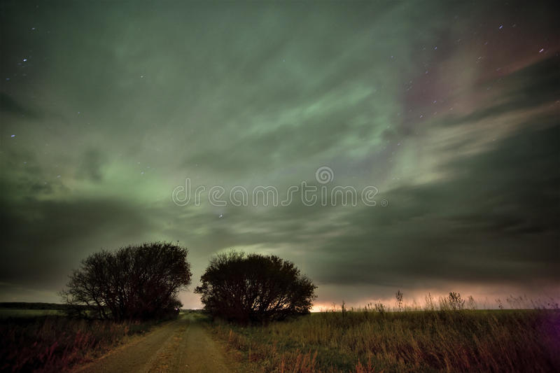 Luces norteñas Canadá imágenes de archivo libres de regalías