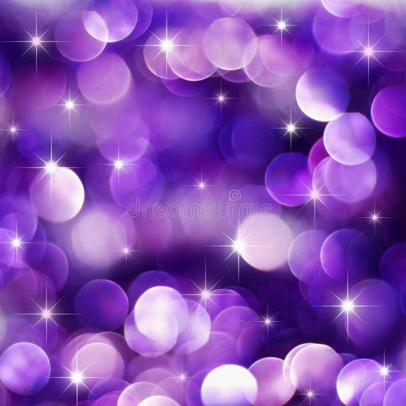 Luces púrpuras del día de fiesta foto de archivo