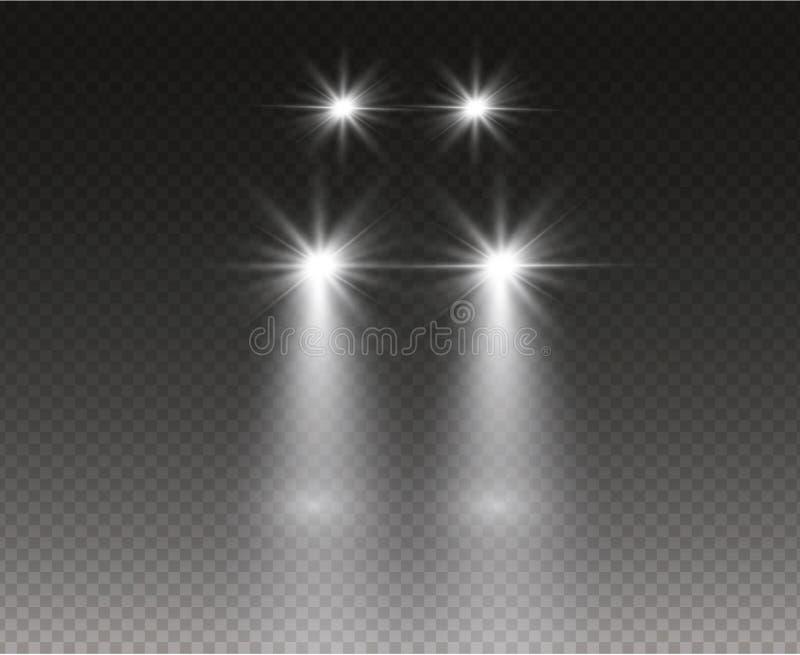 Luces principales del coche stock de ilustración