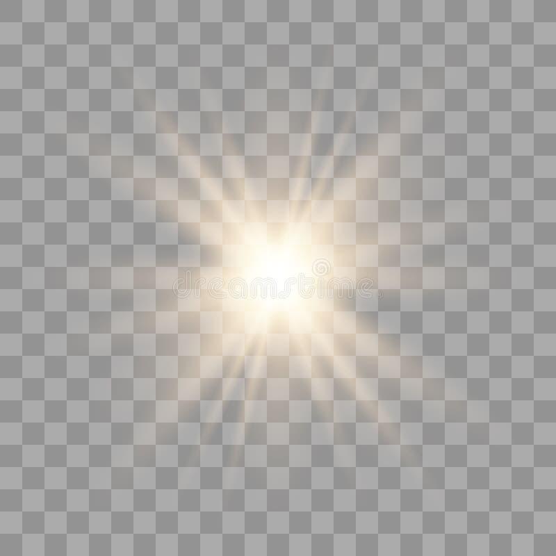 Luces que brillan intensamente de oro libre illustration