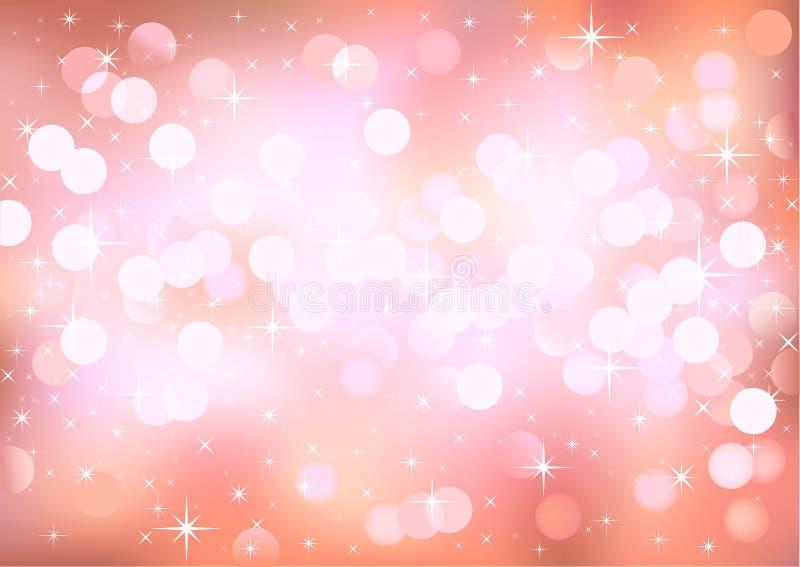 Luces rosadas que brillan del fondo libre illustration