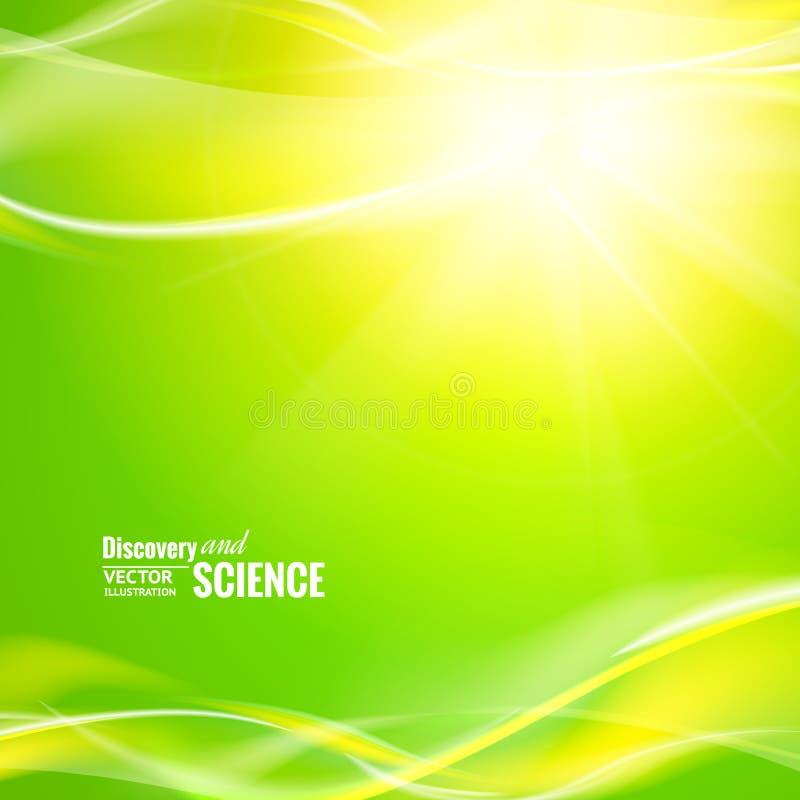 Luces verdes abstractas stock de ilustración