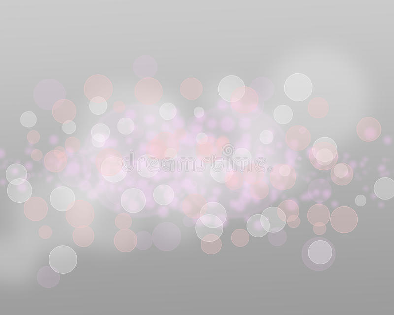 Luces y estrellas de plata en Grey Background Abstract libre illustration