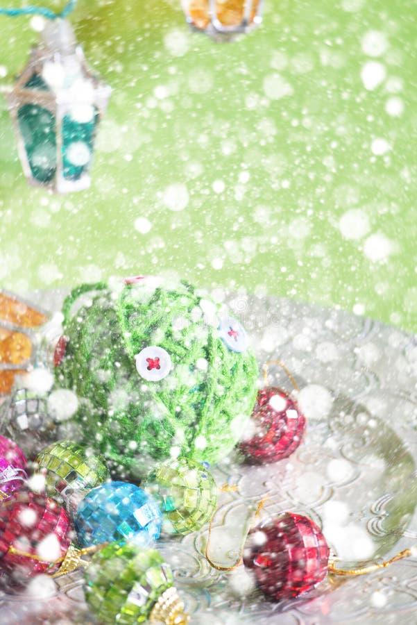Luces y juguetes de la Navidad imagenes de archivo