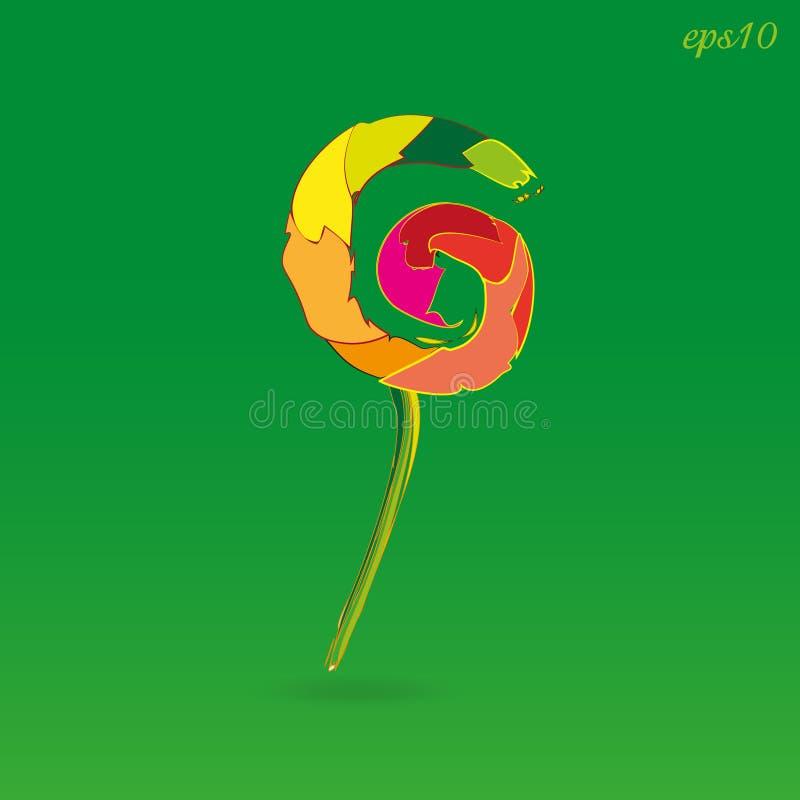Lucette colorée folle illustration stock