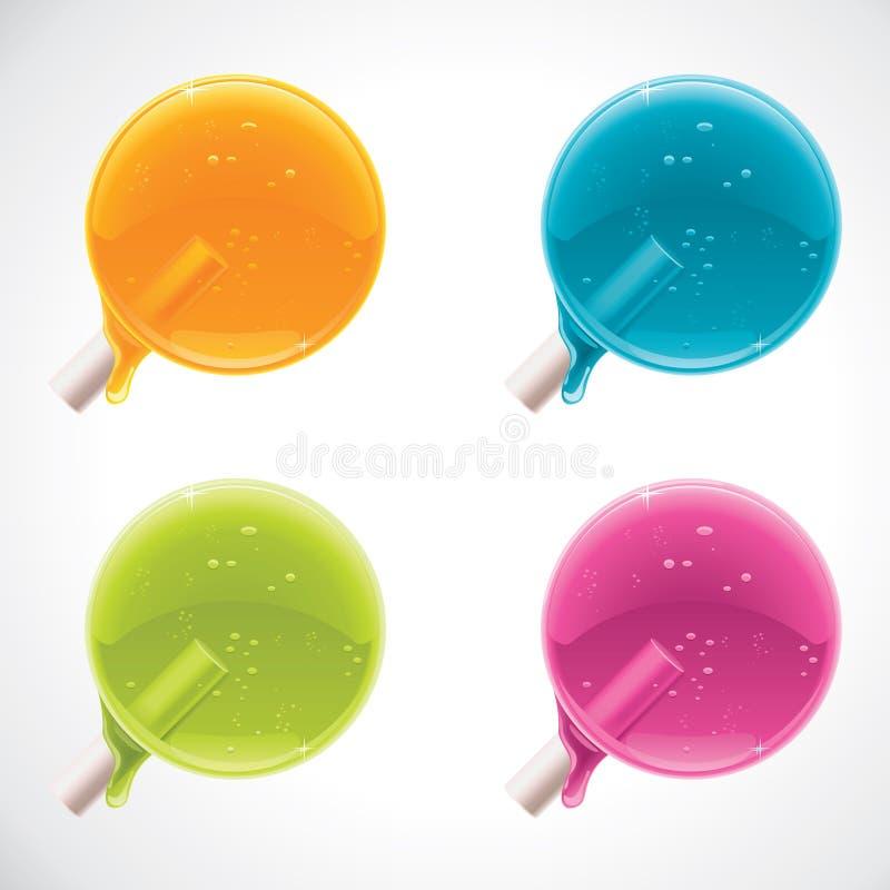 Lucettes colorées de vecteur illustration libre de droits
