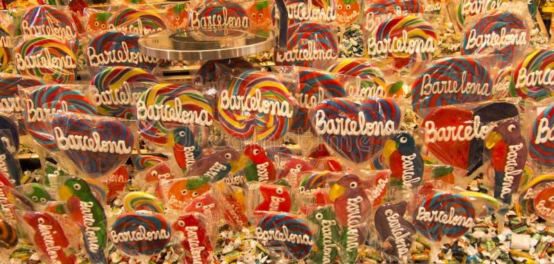 Lucettes et d'autres bonbons avec le mot image stock
