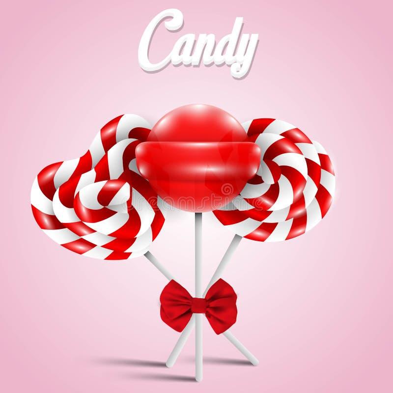 Lucettes rouges de sucrerie illustration stock