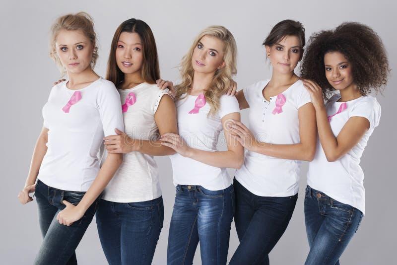 Lucha contra cáncer de pecho foto de archivo