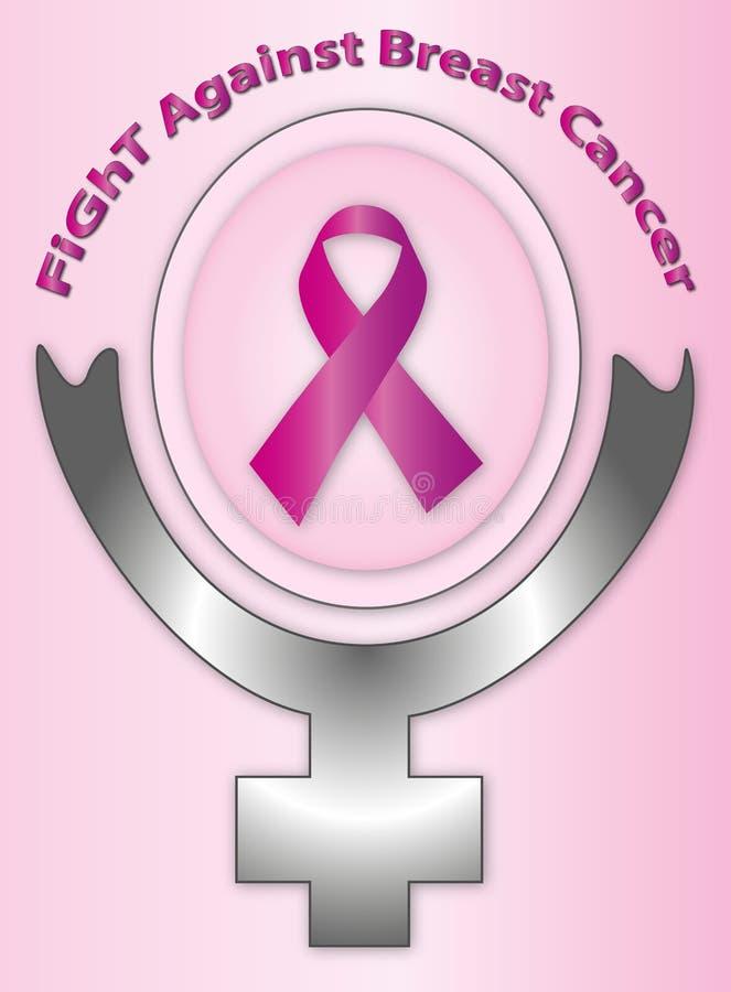 Lucha contra cáncer de pecho stock de ilustración