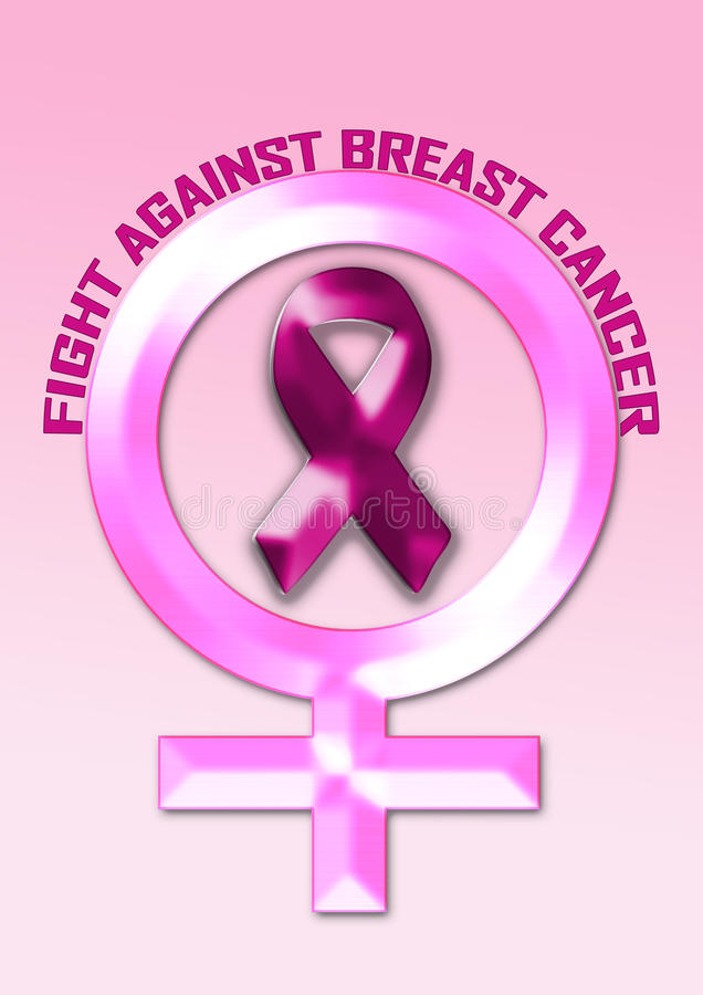 Lucha contra cáncer de pecho imagen de archivo libre de regalías