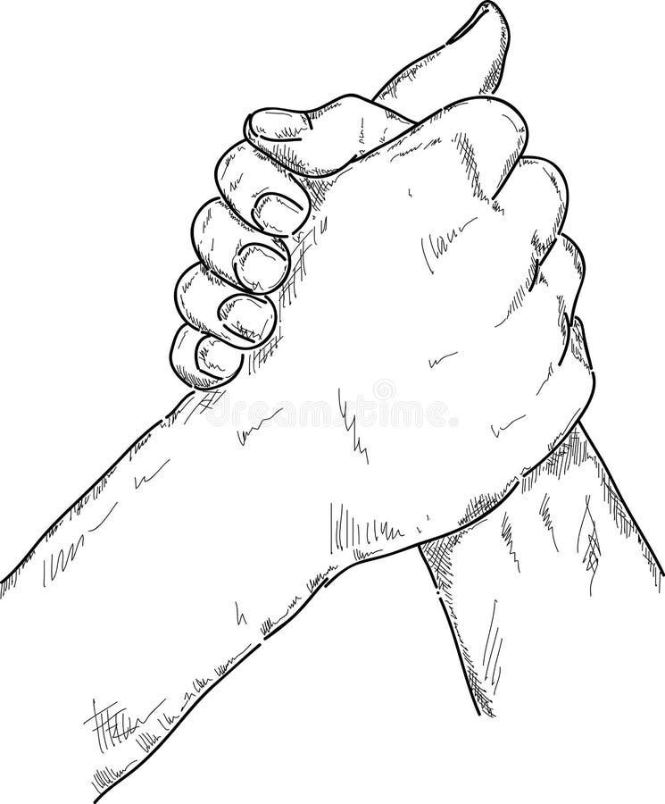 Lucha de brazo ilustración del vector