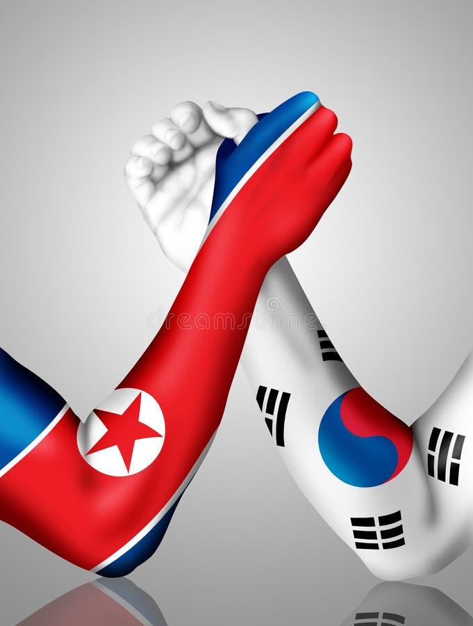 Lucha de brazo coreana stock de ilustración