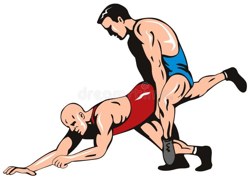 Lucha de estilo libre stock de ilustración