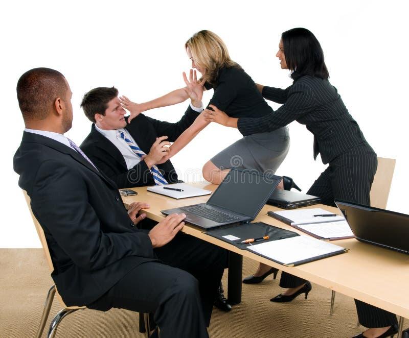 Lucha de la reunión de negocios imágenes de archivo libres de regalías