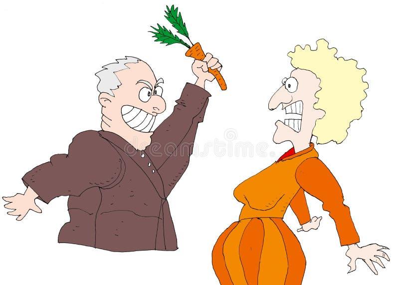 Lucha de la zanahoria fotos de archivo libres de regalías