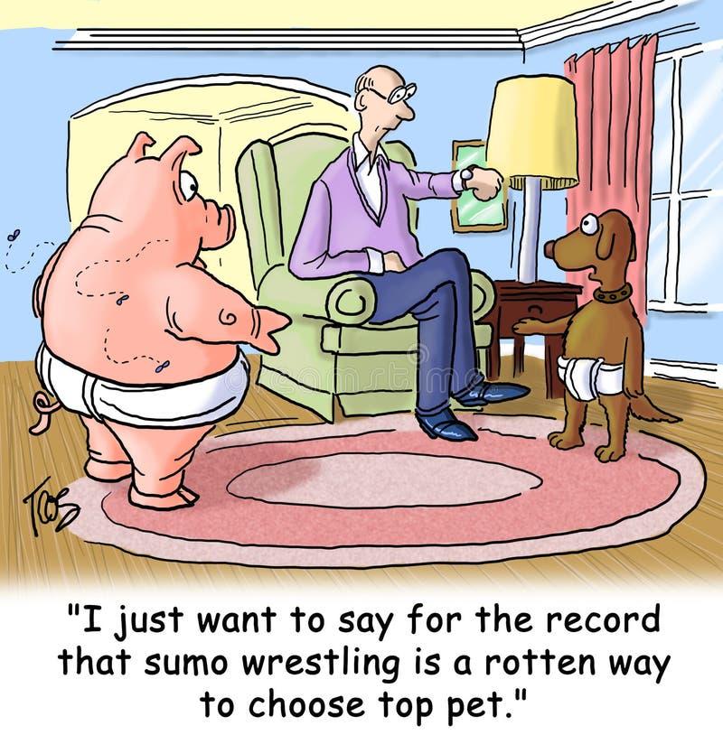 Lucha de sumo stock de ilustración