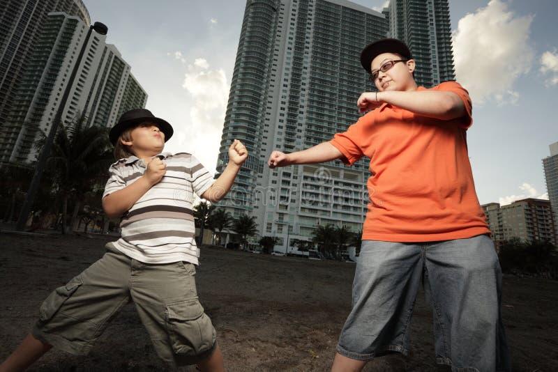 Lucha del hermano y de la hermana foto de archivo libre de regalías