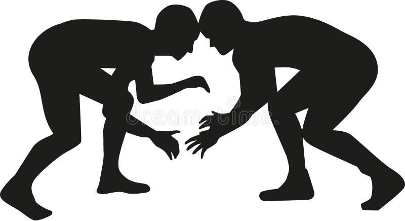 Lucha del luchador stock de ilustración