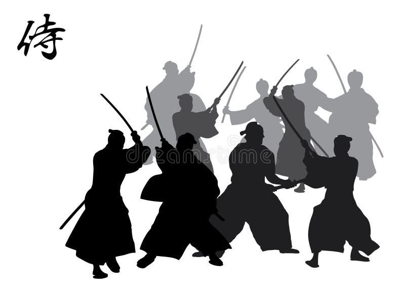Lucha del samurai imágenes de archivo libres de regalías