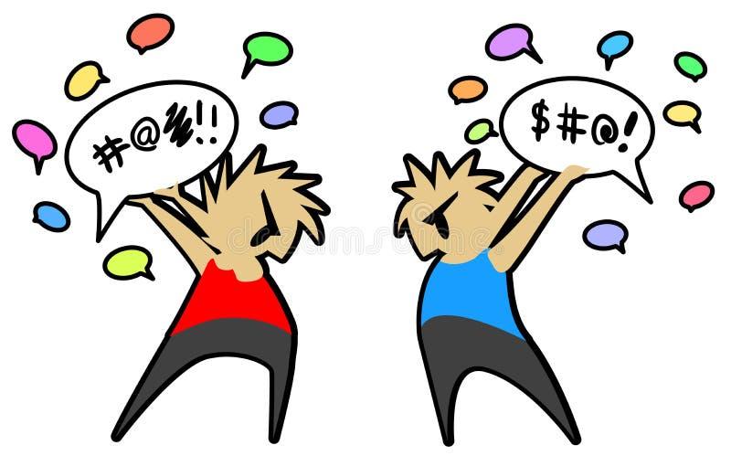 Lucha dos de la conversación libre illustration