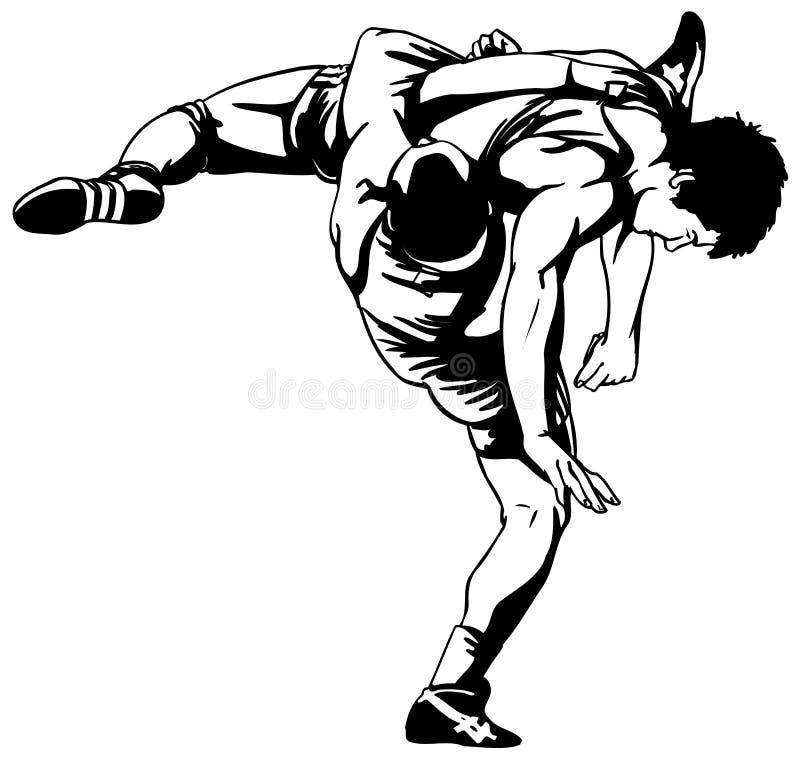 Lucha grecorromana ilustración del vector