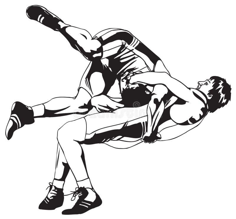 Lucha grecorromana libre illustration
