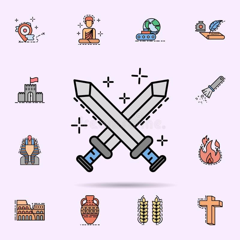 lucha, guerra, icono de la cuchilla Sistema universal de historia para el dise?o y el desarrollo, desarrollo de la p?gina web del libre illustration