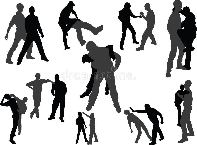 Lucha interna de la gente stock de ilustración