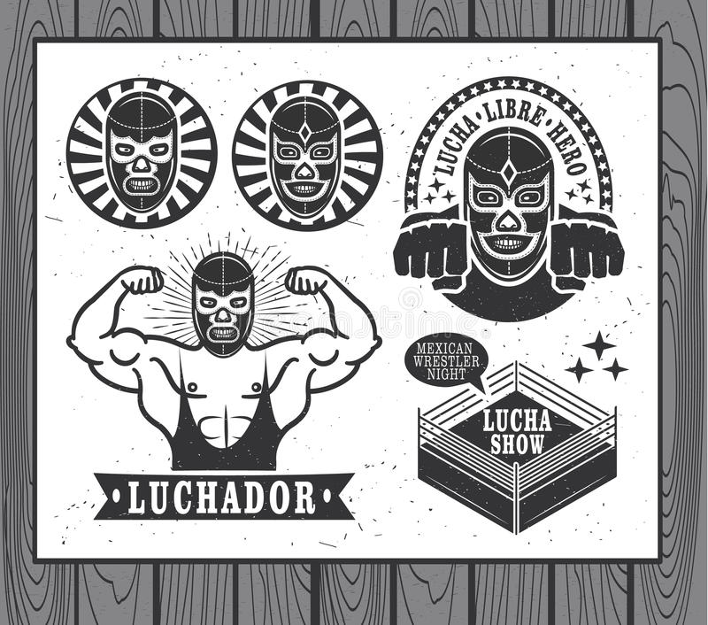 Lucha Libre иллюстрация вектора