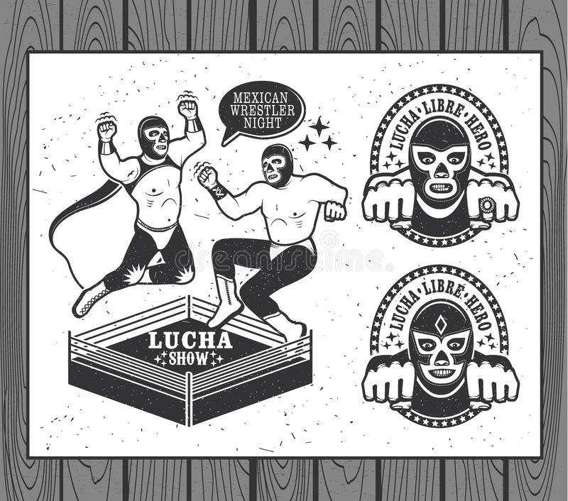 Lucha Libre Collection libre illustration