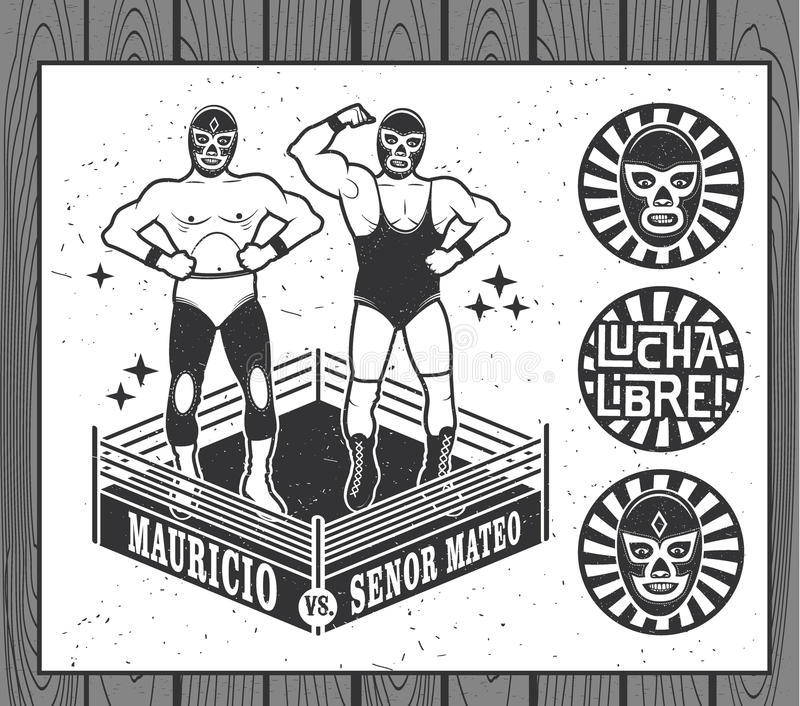 Lucha Libre Collection stock de ilustración