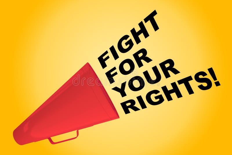 ¡Lucha para sus derechas! concepto ilustración del vector