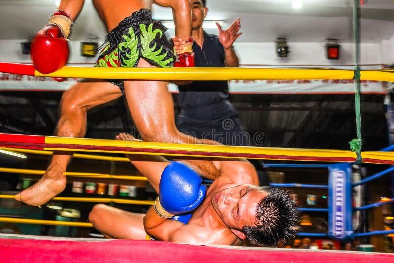 Lucha tailandesa de Muay fotografía de archivo