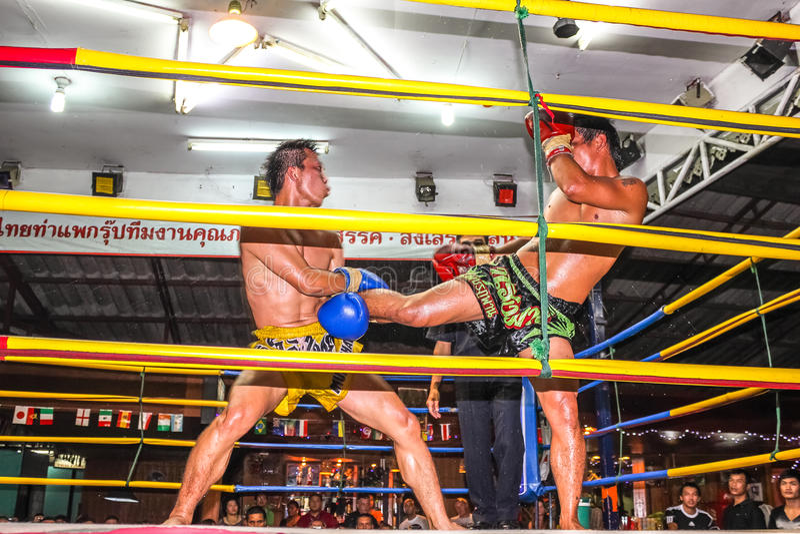 Lucha tailandesa de Muay imagen de archivo libre de regalías